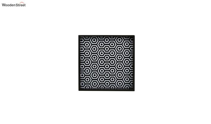 MDF Black & White Square Serving Tray - Set of 2-4