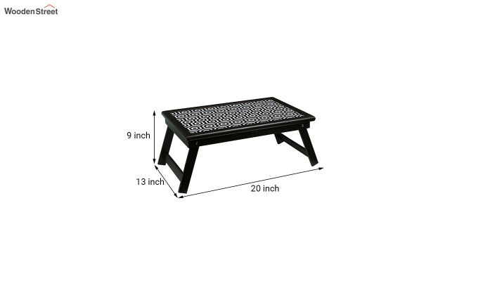 MDF Black and White Wooden Adjustable Tray-7