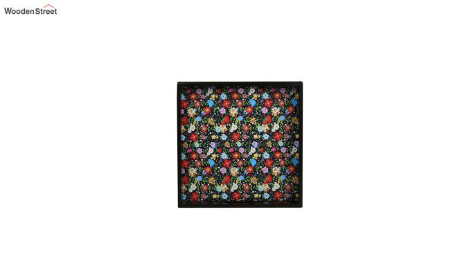 MDF Floral Pattern Small Square Serving Tray-3