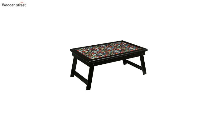MDF Floral Pattern Wooden Adjustable Tray-2