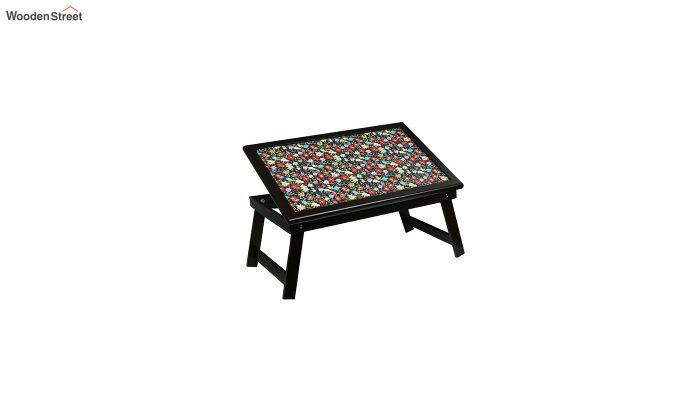 MDF Floral Pattern Wooden Adjustable Tray-5