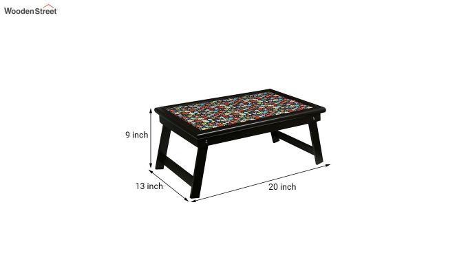 MDF Floral Pattern Wooden Adjustable Tray-7