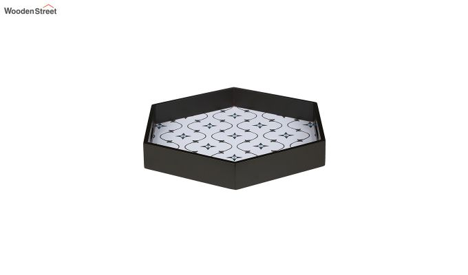 MDF Star Pattern Large Hexagon Serving Tray-4