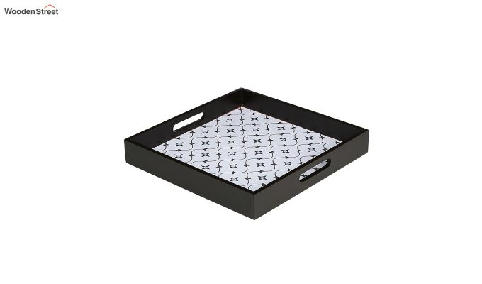 MDF Star Pattern Large Square Serving Tray-2