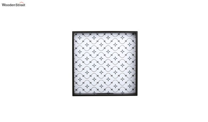 MDF Star Pattern Large Square Serving Tray-4