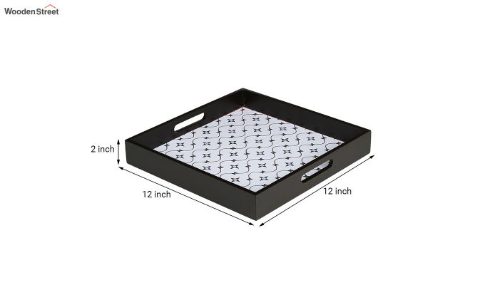 MDF Star Pattern Large Square Serving Tray-6