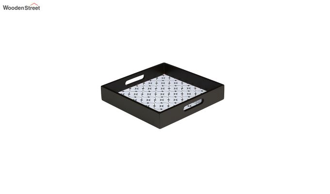 MDF Star Pattern Small Square Serving Tray-2