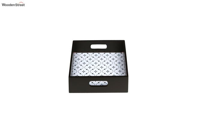 MDF Star Pattern Small Square Serving Tray-3