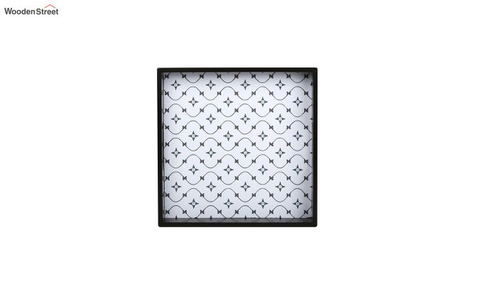 MDF Star Pattern Small Square Serving Tray-4