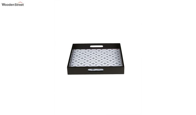 MDF Star Pattern Square Serving Tray - Set of 2-2