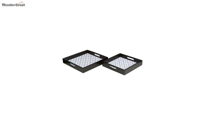 MDF Star Pattern Square Serving Tray - Set of 2-3