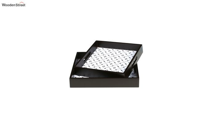 MDF Star Pattern Square Serving Tray - Set of 2-4