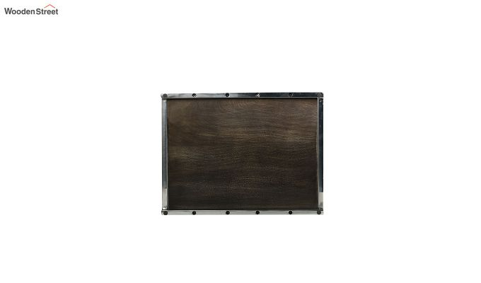 Steel Border Acacia Wood Large Serving Tray-5