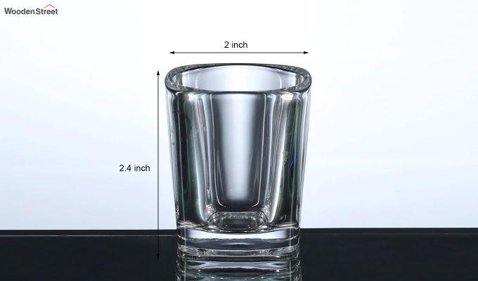50 ML Square Shaped Shot Glasses - Set of 6-5