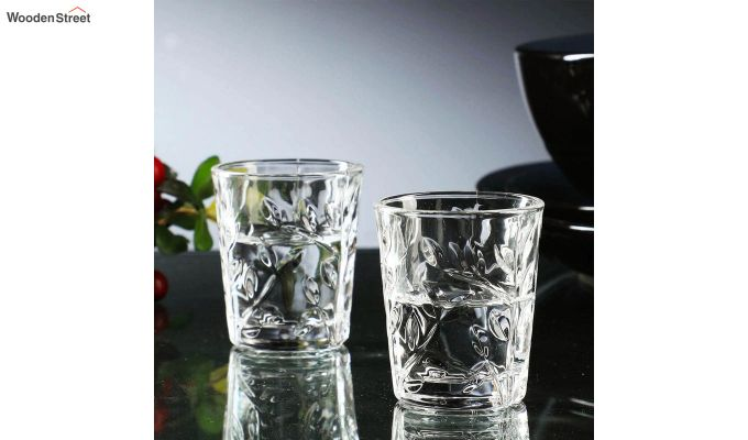 50 ML Vodka Leafy Print Shot Glasses - Set of 6-1