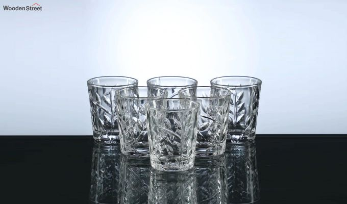 50 ML Vodka Leafy Print Shot Glasses - Set of 6-2