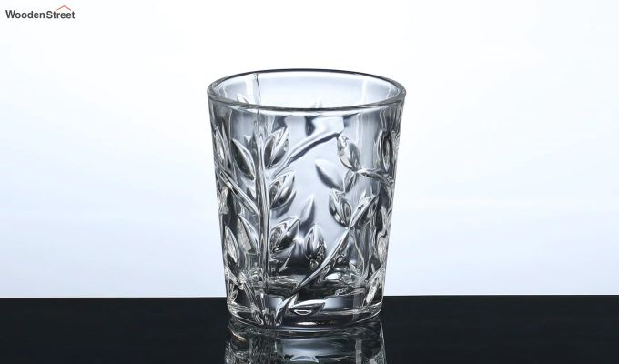 50 ML Vodka Leafy Print Shot Glasses - Set of 6-3