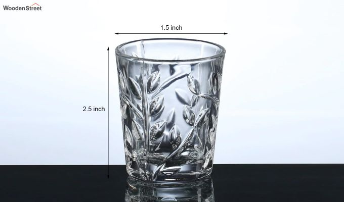 50 ML Vodka Leafy Print Shot Glasses - Set of 6-5