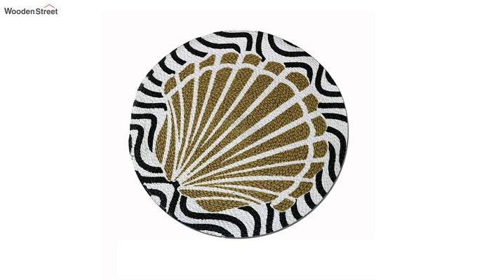Black and Beige Cotton Table Placemats - Set of 4-4