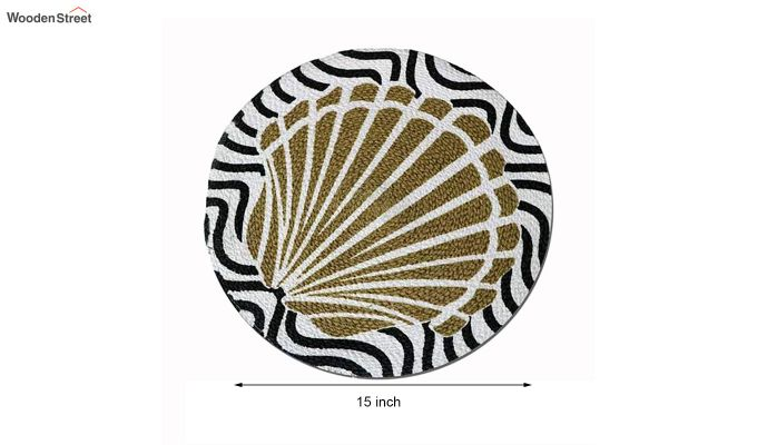 Black and Beige Cotton Table Placemats - Set of 4-6