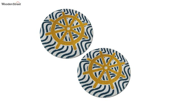 Black and Yellow Cotton Table Placemats - Set of 2-4