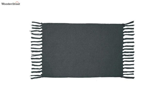 Black Cotton Table Placemats (13×19 Inch , Pack of 4)-3