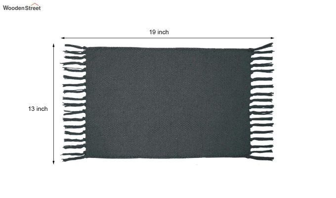Black Cotton Table Placemats (13×19 Inch , Pack of 4)-6
