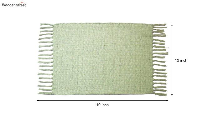 Mint Green Cotton Table Placemats (13×19 Inch , Pack of 4)-6