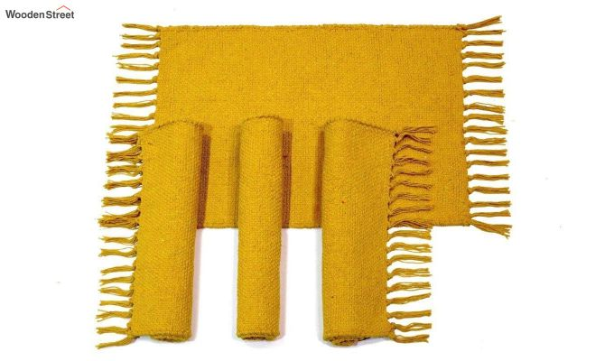 Mustard Cotton Table Placemats (13×19 Inch , Pack of 4)-2