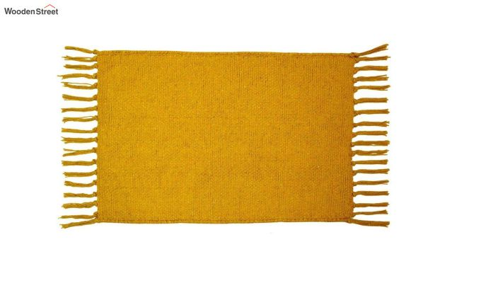 Mustard Cotton Table Placemats (13×19 Inch , Pack of 4)-3