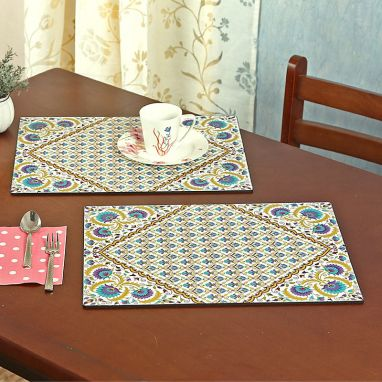 Suzani MDF Table Mats - Set of 6