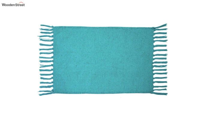 Turquoise Cotton Table Placemats (13×19 Inch , Pack of 4)-3
