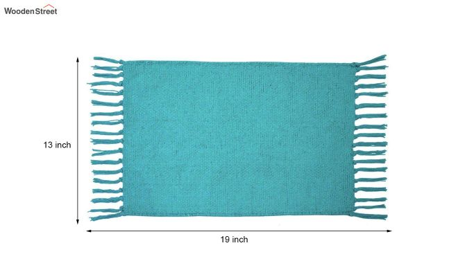 Turquoise Cotton Table Placemats (13×19 Inch , Pack of 4)-5