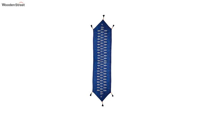Blue Cotton Table Runner (90 x 13 inches)-3