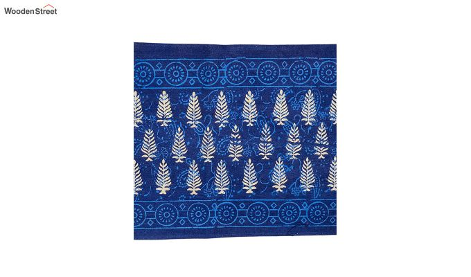 Blue Cotton Table Runner (90 x 13 inches)-4