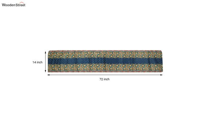 Blue PolyCanvas Printed Fabric Table Runner (72 x 14 inches)-2