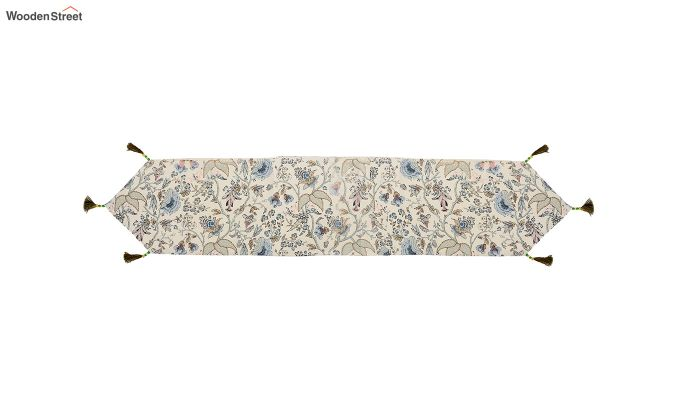 Cotton White Table Runner (90 x 13 inches)-3