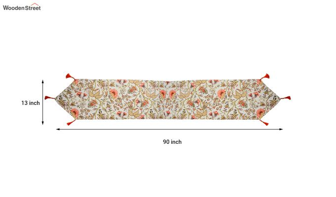 Multicolour Cotton Table Runner (90 x 13 inches)-5