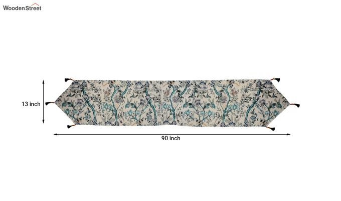 White Cotton Table Runner (90 x 13 inches)-5
