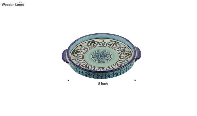 Royal Crown Blue Ceramic Tea Pot - Set of 4-6