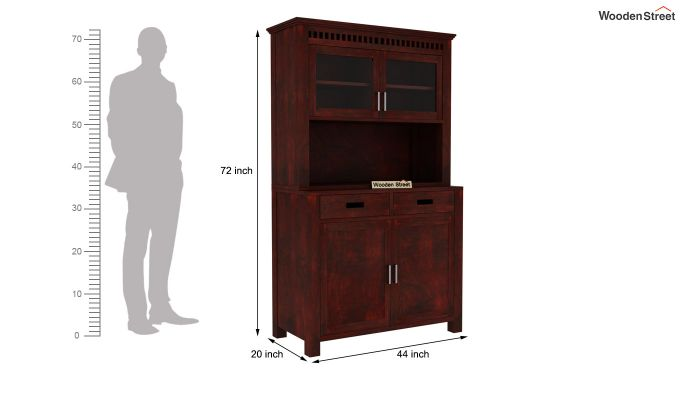 Adolph Hutch Cabinet (Mahogany Finish)-7