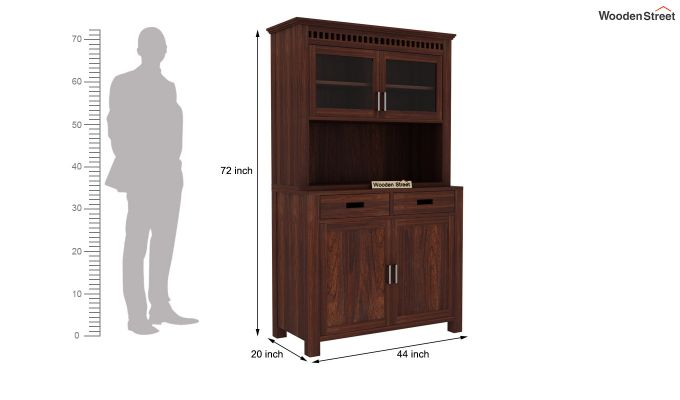 Adolph Hutch Cabinet (Walnut Finish)-7