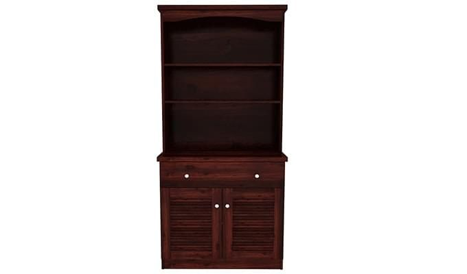 Aelita Kitchen Cabinet (Mahogany Finish)-3