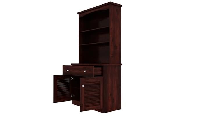 Aelita Kitchen Cabinet (Mahogany Finish)-6