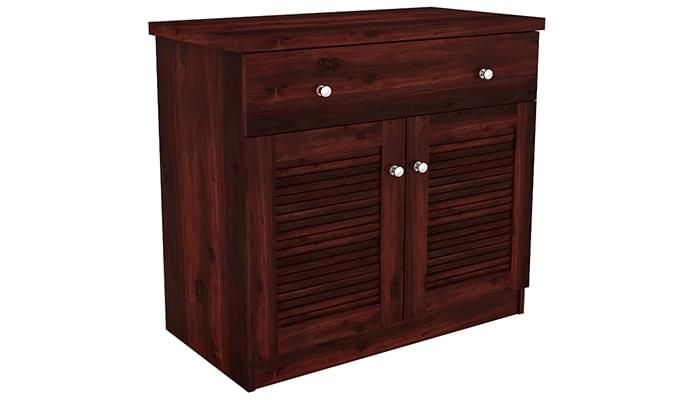 Aelita Kitchen Cabinet (Mahogany Finish)-8