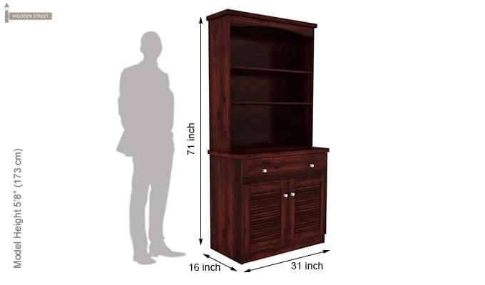 Aelita Kitchen Cabinet (Mahogany Finish)-9