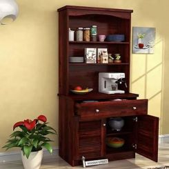 Aelita Kitchen Cabinet (Mahogany Finish)