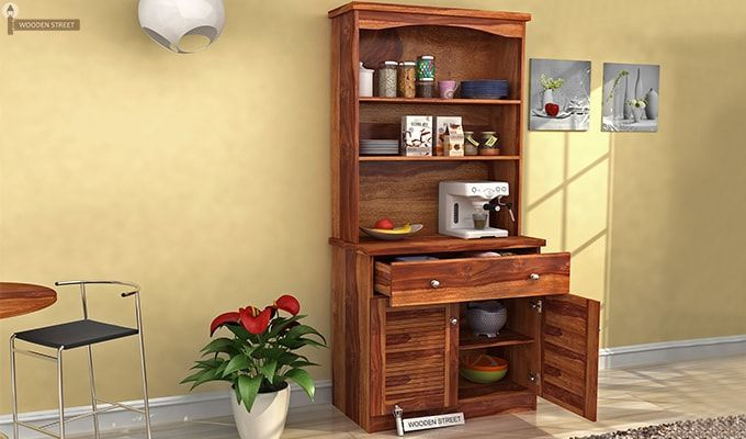 Aelita Kitchen Cabinet (Teak Finish)-1