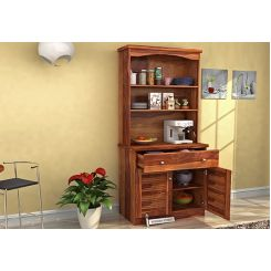 Aelita Kitchen Cabinet (Teak Finish)