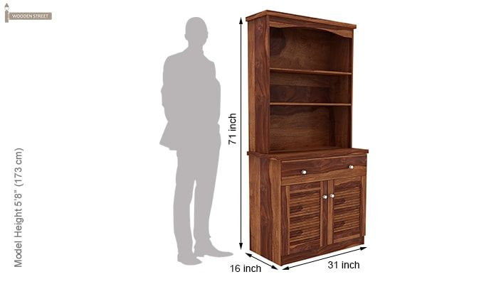 Aelita Kitchen Cabinet (Teak Finish)-9